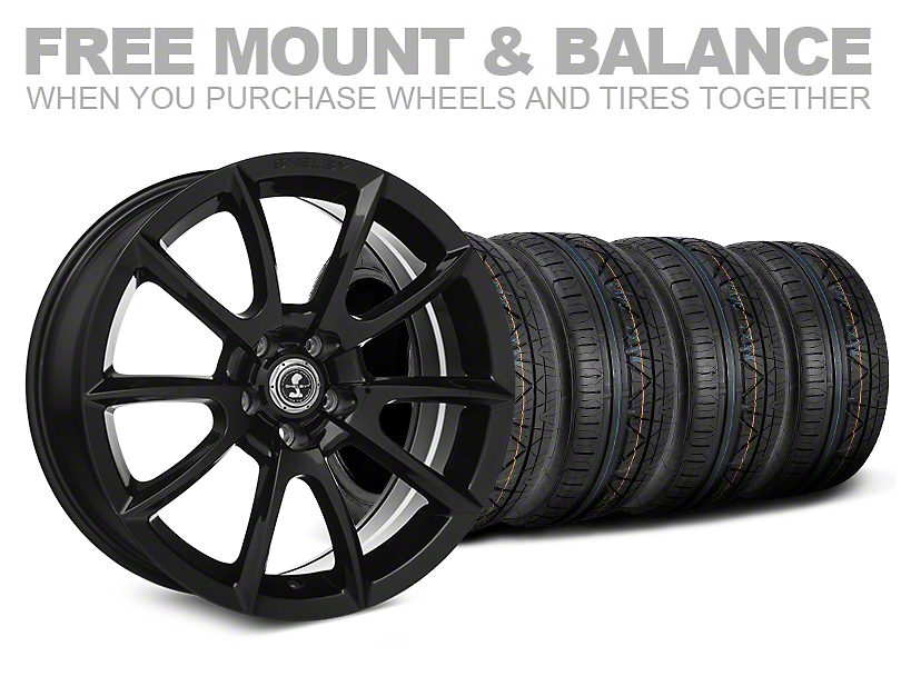 Staggered Super Snake Style Black Wheel & NITTO INVO Tire Kit - 20x9/10 (05-14 All)