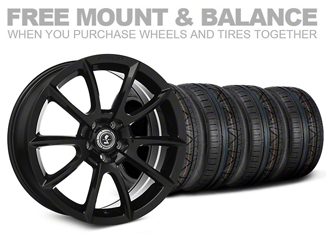 Staggered Super Snake Style Black Wheel and NITTO INVO Tire Kit; 20x9/10 (05-14 All)