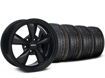 Staggered Bullitt Solid Black Wheel & NITTO INVO Tire Kit - 18x9/10 (05-14)