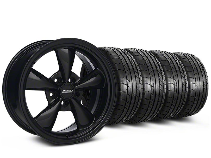 Staggered Bullitt Solid Black Wheel & Mickey Thompson Tire Kit - 18x9/10 (05-14)