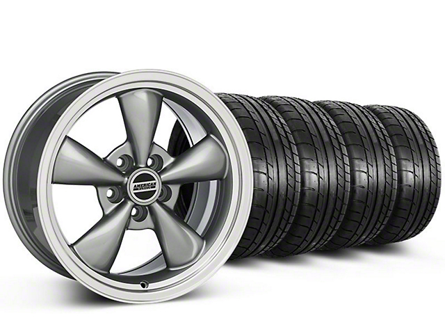 Staggered Bullitt Anthracite Wheel and Mickey Thompson Tire Kit; 17x9/10.5 (99-04 All)