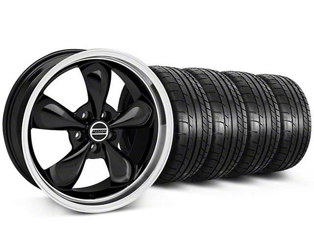 Staggered Bullitt Black Wheel & Mickey Thompson Tire Kit - 17x9/10.5 (99-04 All)