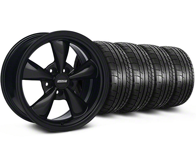 Staggered Bullitt All Black Wheel and Mickey Thompson Tire Kit; 17x9/10.5 (99-04 All)