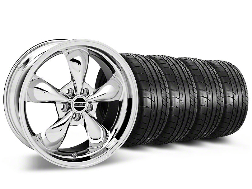 Staggered Bullitt Chrome Wheel & Mickey Thompson Tire Kit - 17x9/10.5 (99-04 All)