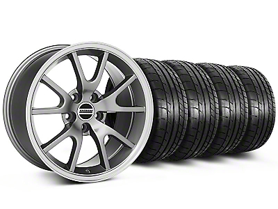 Staggered FR500 Style Anthracite Wheel & Mickey Thompson Tire Kit - 17x9/10.5 (99-04 All)