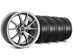 Staggered FR500 Style Anthracite Wheel and Mickey Thompson Tire Kit; 17x9/10.5 (99-04 All)