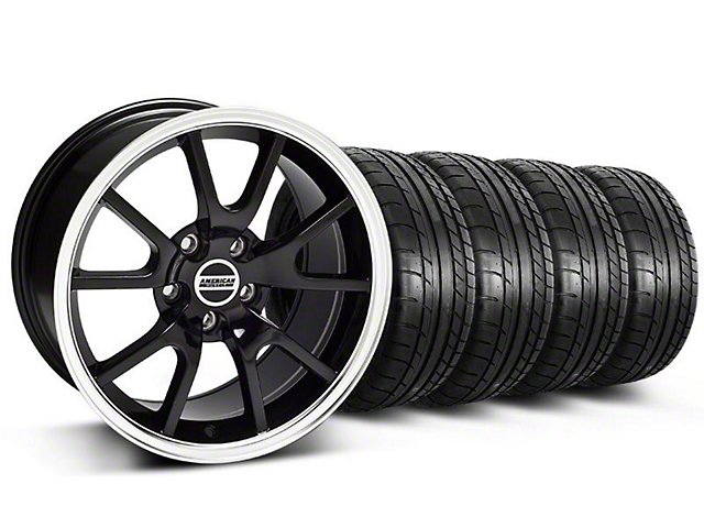 Staggered FR500 Style Black Wheel and Mickey Thompson Tire Kit; 17x9/10.5 (99-04 All)