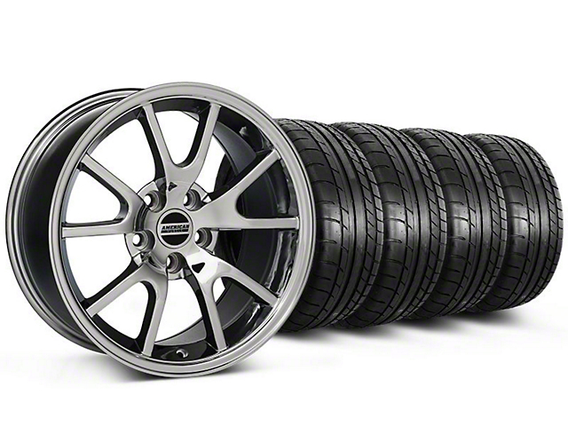 Staggered FR500 Style Chrome Wheel & Mickey Thompson Tire Kit; 17x9/10.5 (99-04 All)