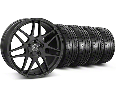 Staggered Forgestar F14 Matte Black Wheel & Mickey Thompson Tire Kit - 17x9/10.5 (99-04 All)