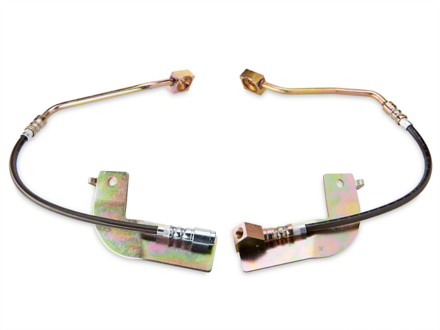 J&M Stainless Steel Teflon Brake Lines - Rear w/o ABS (99-04 GT, V6, Mach 1)