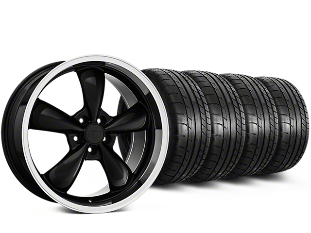 Bullitt Mustang Black Wheel & Mickey Thompson Tire Kit - 18x8 (94-98 All)