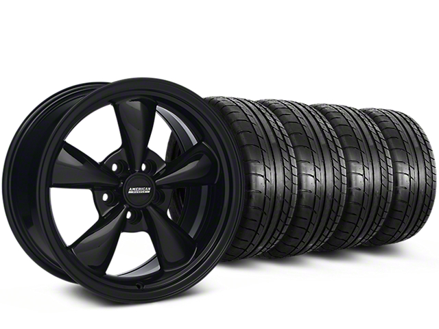 Bullitt All Black Mustang Wheel & Mickey Thompson Tire Kit - 18x8 (94-98 All)