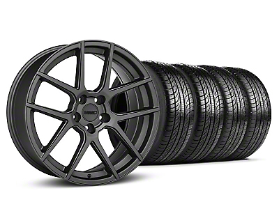 MMD Zeven Charcoal Wheel & Pirelli Tire Kit - 19x8.5 (05-14 All)