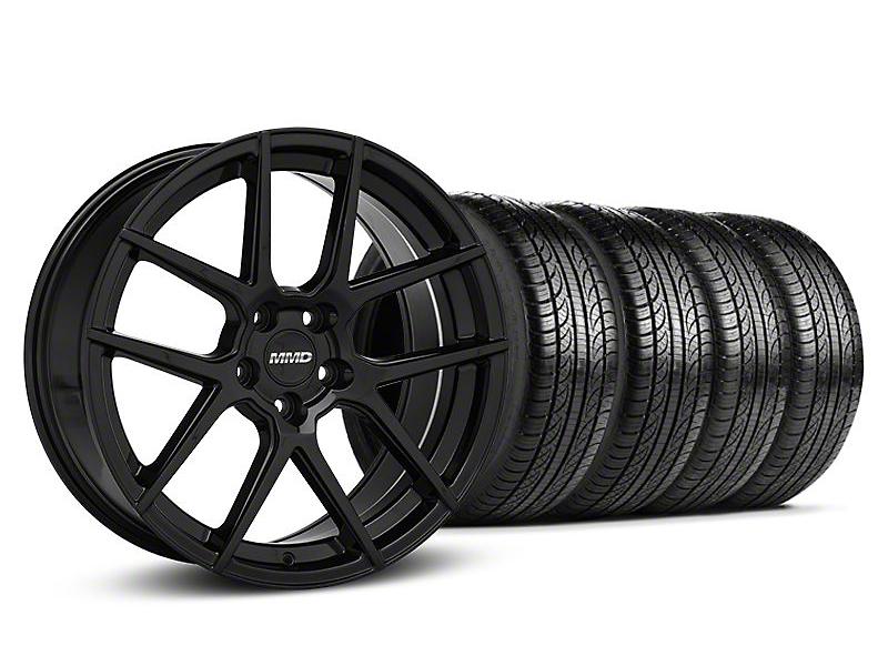 MMD Zeven Black Wheel & Pirelli Tire Kit - 19x8.5 (05-14 All)