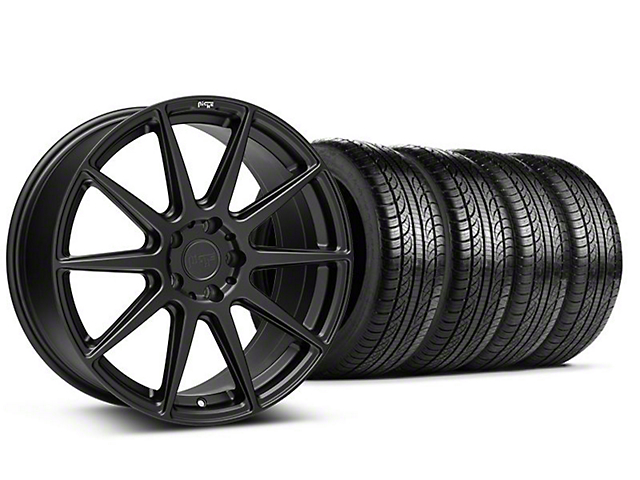 Niche Essen Matte Black Wheel & Pirelli Tire Kit - 19x8.5 (05-14 All)