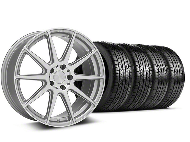 Niche Essen Silver Wheel & Pirelli Tire Kit - 19x8.5 (05-14 All)