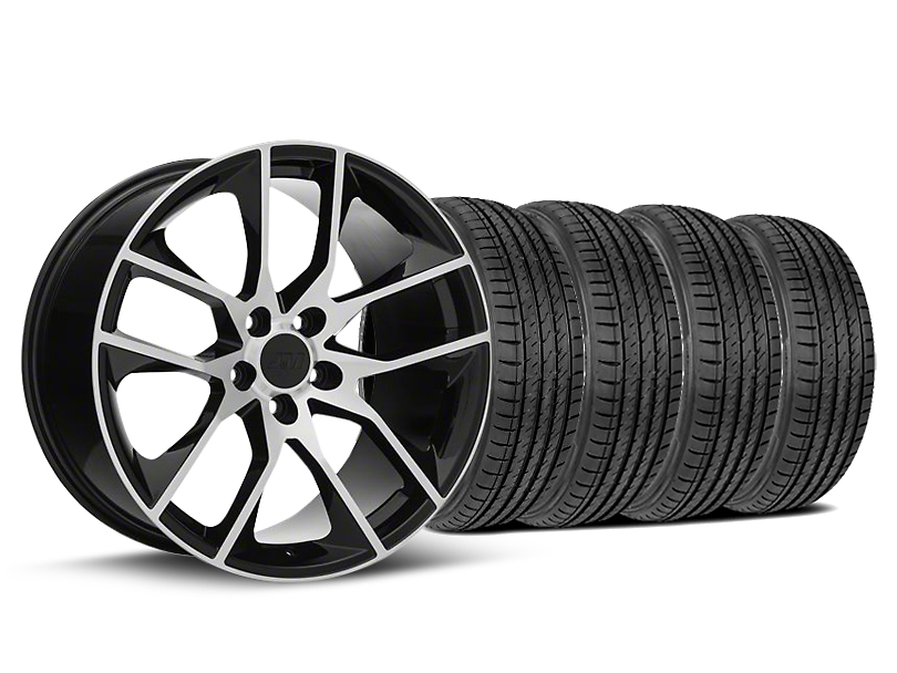 Magnetic Style Black Machined Wheel & Sumitomo Tire Kit - 19x8.5 (05-14 GT, V6)