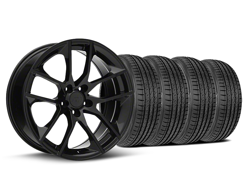 Magnetic Style Black Wheel and Sumitomo Maximum Performance HTR Z5 Tire Kit; 19x8.5 (05-14 GT, V6)