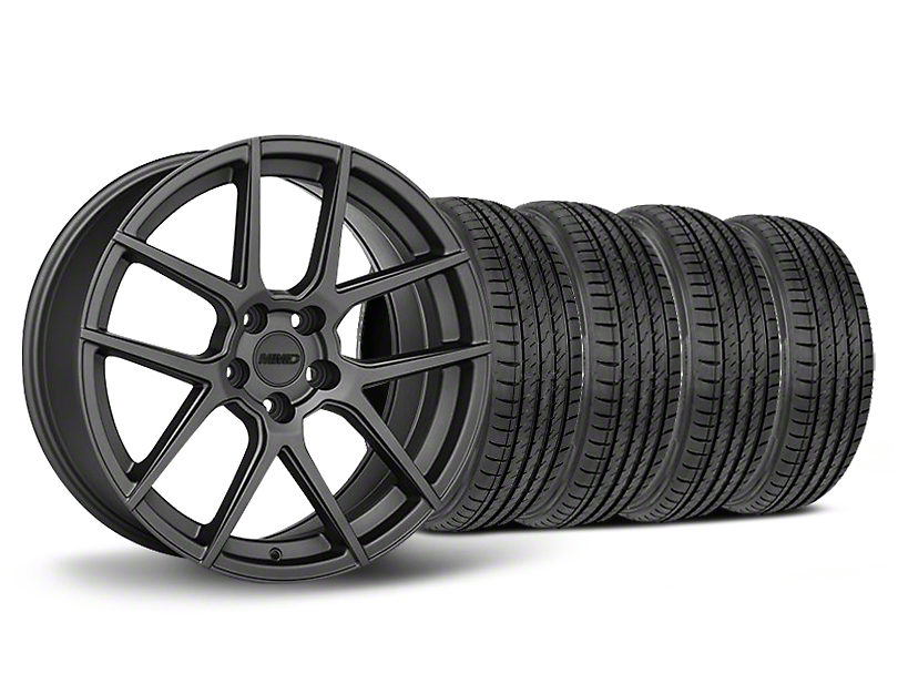 MMD Zeven Charcoal Wheel & Sumitomo Maximum Performance HTR Z5 Tire Kit - 19x8.5 (05-14 All)