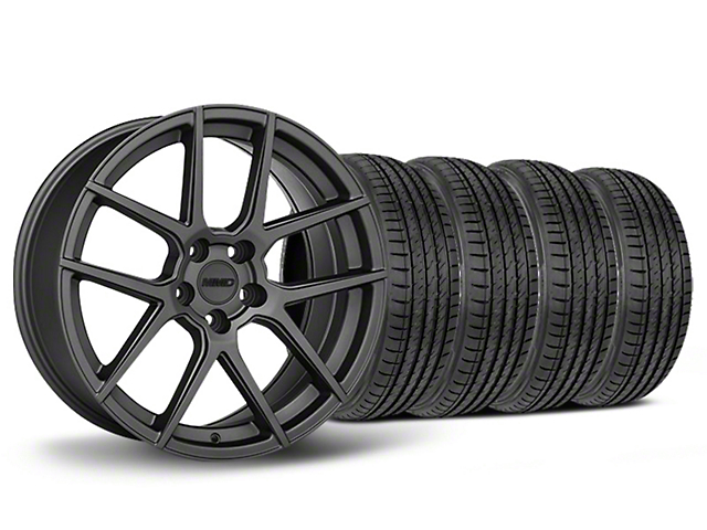 MMD Zeven Charcoal Wheel & Sumitomo Tire Kit - 19x8.5 (05-14 All)