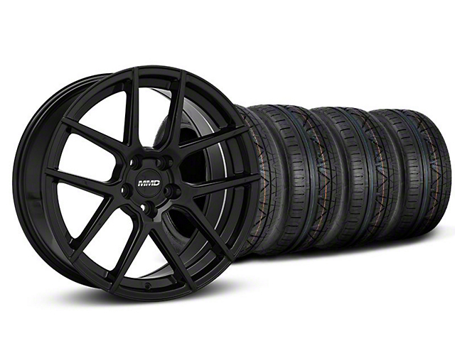 MMD Zeven Black Wheel & NITTO INVO Tire Kit - 19x8.5 (05-14 All)