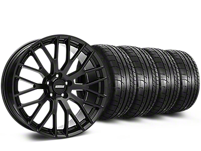 Performance Pack Style Black Wheel & Mickey Thompson Tire Kit - 19x8.5 (05-14 GT, V6)