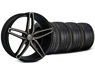 Foose Stallion Double Dark Wheel & NITTO INVO Tire Kit - 20x8.5 (05-14 All)