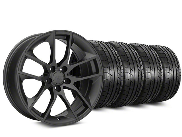 Magnetic Style Charcoal Wheel and Mickey Thompson Tire Kit; 20x8.5 (05-14 GT, V6)