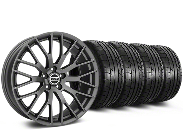 Performance Pack Style Charcoal Wheel and Mickey Thompson Tire Kit; 20x9 (05-14 GT, V6)