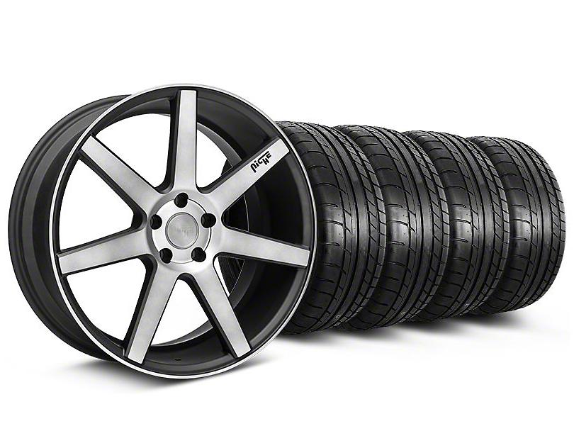 Niche Verona Black Double Dark Wheel & Mickey Thompson Tire Kit - 20x9 (05-14 All)