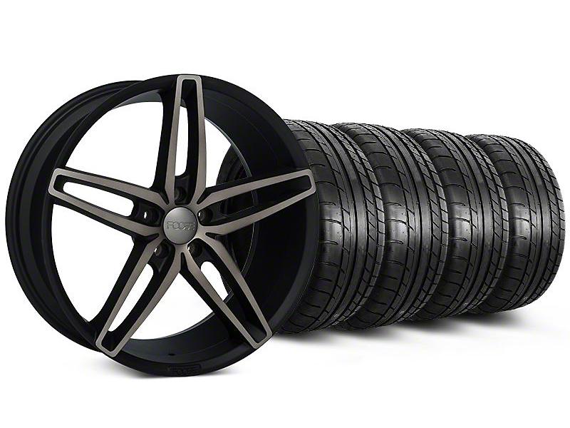 Foose Stallion Double Dark Wheel & Mickey Thompson Tire Kit - 20x8.5 (05-14 All)