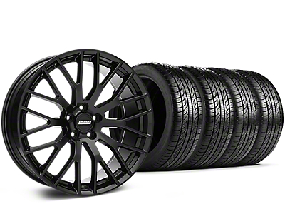 Staggered Performance Pack Style Black Wheel & Pirelli Tire Kit - 19x8.5 (05-14)