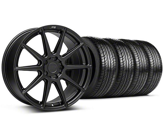 Staggered Niche Essen Matte Black Wheel & Pirelli Tire Kit - 19x8.5/10 (05-14 All)