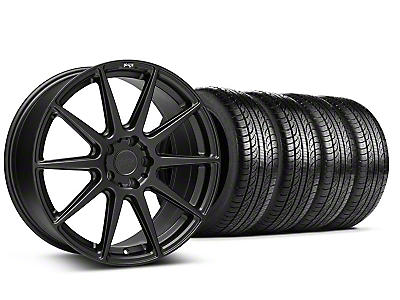 Staggered Niche Essen Matte Black Wheel & Pirelli Tire Kit - 19x8.5/10 (05-14 All)