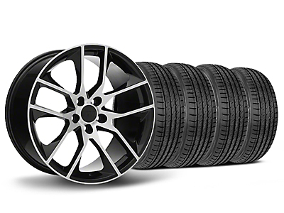 Staggered Magnetic Style Black Machined Wheel & Sumitomo Tire Kit - 19x8.5/10 (05-14 All)