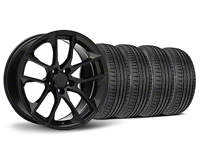 Staggered Magnetic Style Black Wheel & Sumitomo Tire Kit - 19x8.5 (05-14 All)