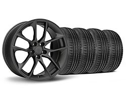 Staggered Magnetic Style Charcoal Wheel and Sumitomo Maximum Performance HTR Z5 Tire Kit; 19x8.5/10 (05-14 All)