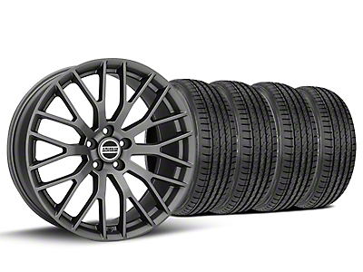 Staggered Performance Pack Style Charcoal Wheel & Sumitomo Tire Kit - 19x8.5/10 (05-14)