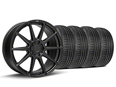 Staggered Niche Essen Matte Black Wheel & Sumitomo Tire Kit - 19x8.5/10 (05-14 All)