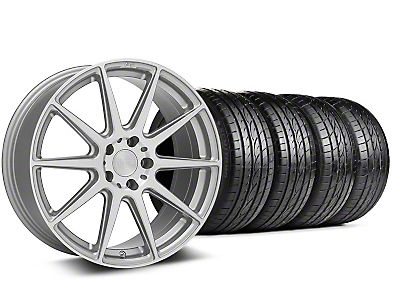 Staggered Niche Essen Silver Wheel & Sumitomo Tire Kit - 19x8.5/10 (05-14 All)