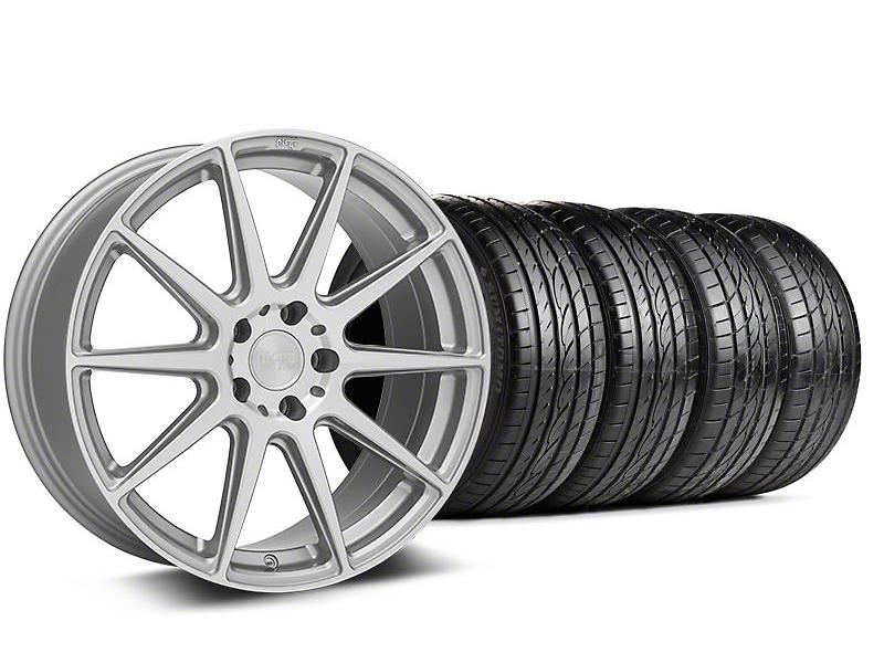 Staggered Niche Essen Silver Wheel & Sumitomo Tire Kit - 19x8.5/10 (05-14 All)