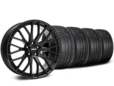 Staggered Performance Pack Style Black Wheel & NITTO INVO Tire Kit - 19x8.5 (05-14 All)