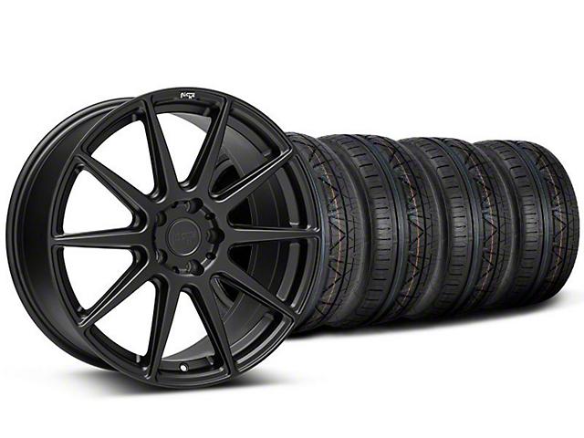 Staggered Niche Essen Matte Black Wheel & NITTO INVO Tire Kit - 19x8.5/10 (05-14 All)