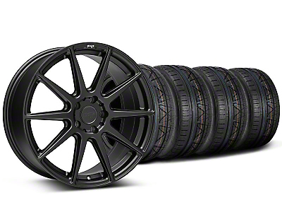 Staggered Niche Essen Matte Black Wheel & NITTO INVO Tire Kit - 19x8.5/10 (05-14 All)