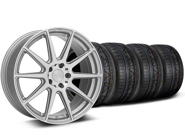 Staggered Niche Essen Silver Wheel and NITTO INVO Tire Kit; 19x8.5/10 (05-14 All)