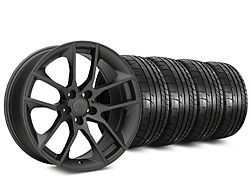 Staggered Magnetic Style Charcoal Wheel and Mickey Thompson Tire Kit; 19x8.5/10 (05-14 All)