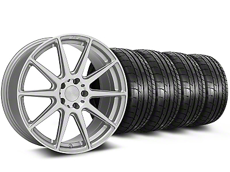 Staggered Niche Essen Silver Wheel & NITTO INVO Tire Kit - 19x8.5/10 (05-14 All)