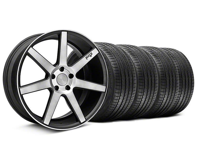 Staggered Niche Verona Black Double Dark Wheel & Sumitomo Tire Kit - 20x9/10 (05-14 All)