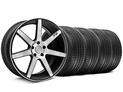 Staggered Niche Verona Black Double Dark Wheel & Sumitomo Tire Kit - 20x9/10 (05-14 All)