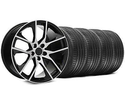 Staggered 2015 Mustang GT Style Black Machined Wheel & Sumitomo Tire Kit - 20x8.5/10 (05-14)